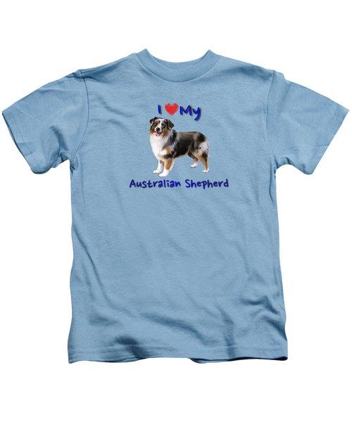 I Heart My Australian Shepherd Kids T-Shirt