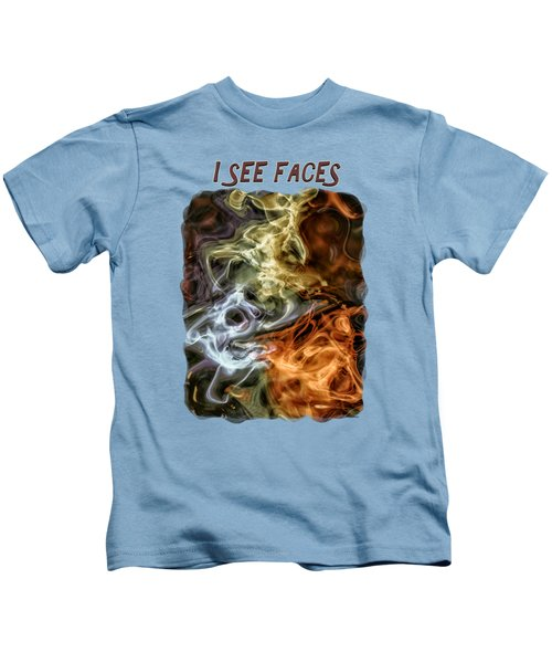 I See Faces Kids T-Shirt