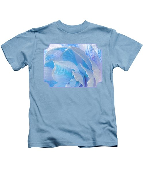 Ice Blue Amaryllis Abstract Kids T-Shirt