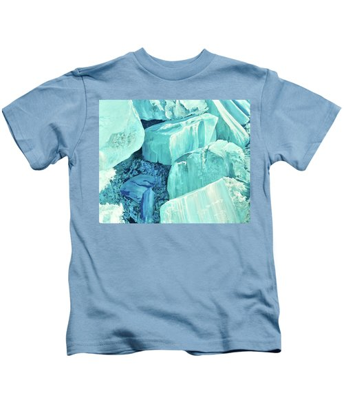 Ice Pushed Up On A Lake Kids T-Shirt