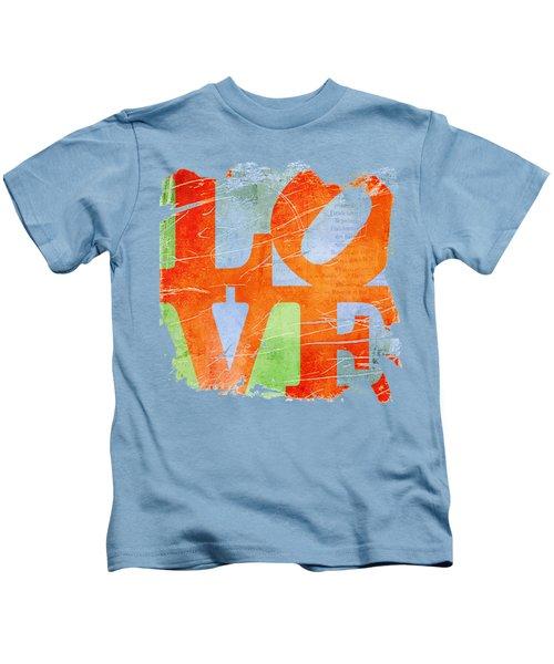 Iconic Love - Grunge Kids T-Shirt by Paulette B Wright