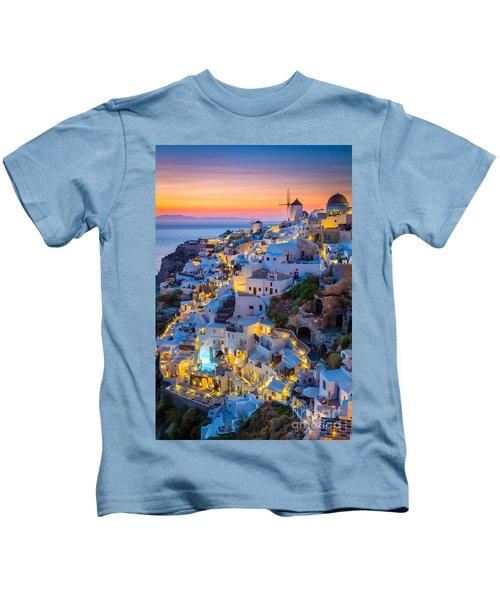 Oia Sunset Kids T-Shirt