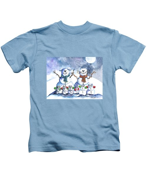 It's Snowing Cats And Dogs And Mice Too Kids T-Shirt