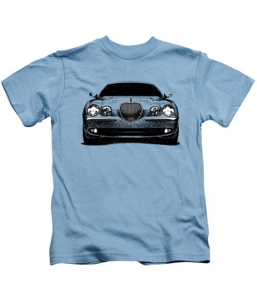 Jaguar S Type Kids T-Shirt by Mark Rogan