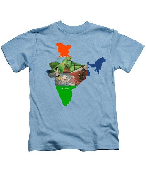 Jai Jawan Jai Kisan Kids T-Shirt