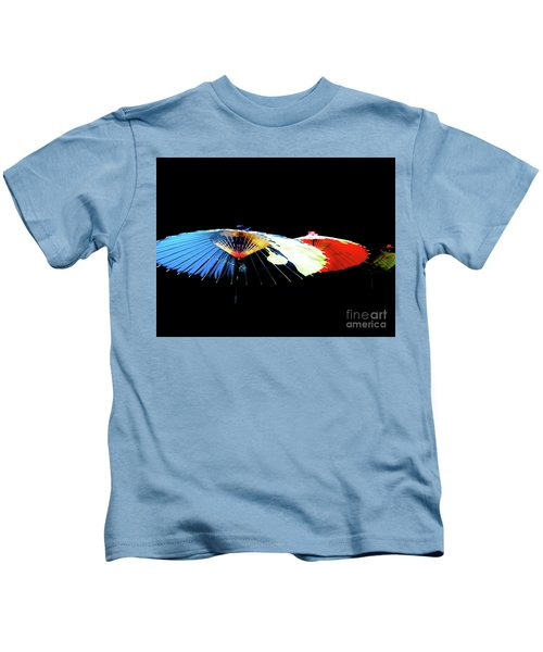 Japanese Umbrellas Assorted Colors Kids T-Shirt