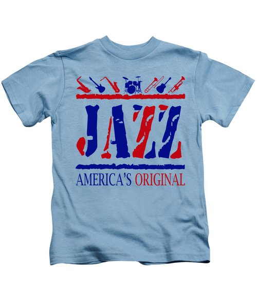 Jazz Americas Original Kids T-Shirt by David G Paul