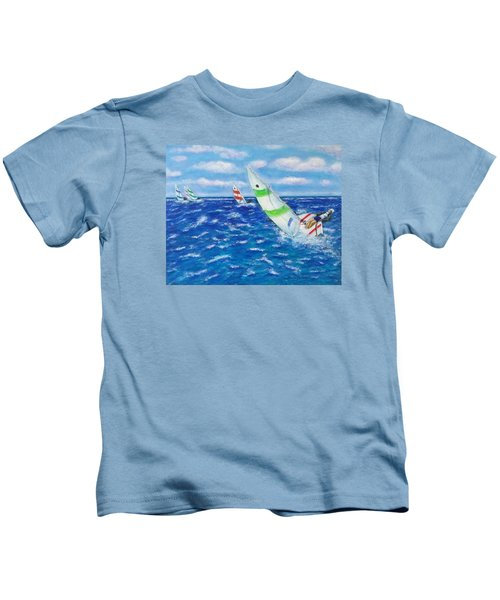 Kids T-Shirt featuring the painting Keeling by Amelie Simmons