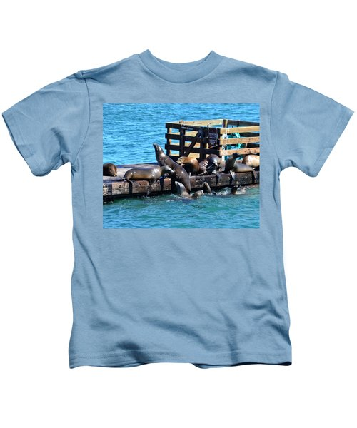 Keep Off The Dock - Sea Lions Can't Read Kids T-Shirt