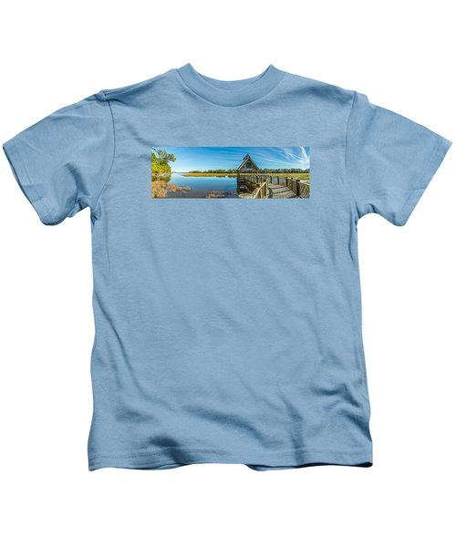 Kiawah Island Boathouse Panoramic Kids T-Shirt