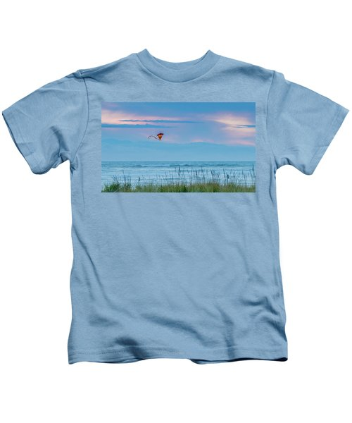 Kite In The Air At Sunset Kids T-Shirt