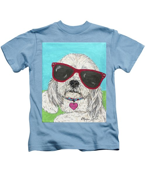Laci With Shades Kids T-Shirt