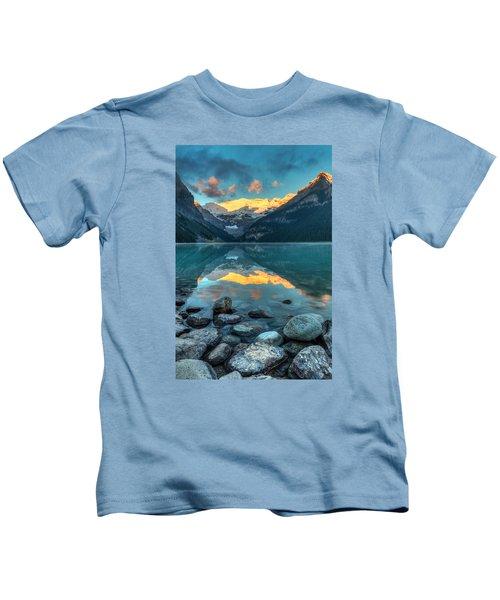 Lake Louise Sunrise Kids T-Shirt
