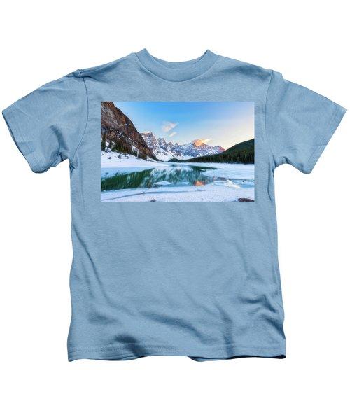 Lake Moraine Sunset Kids T-Shirt