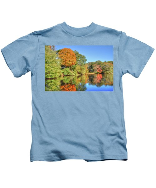 Lake Noquochoke, Dartmouth, Ma Kids T-Shirt