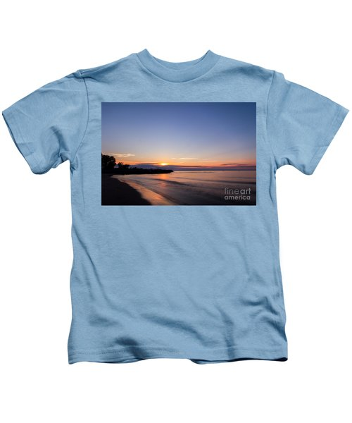 Lake Ontario Beach Sunset Kids T-Shirt