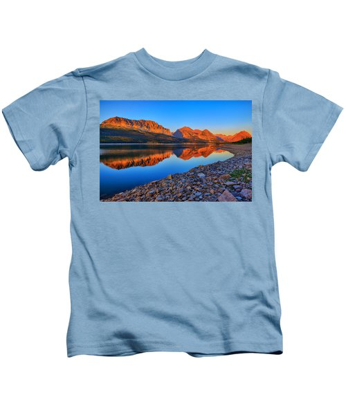 Lake Sherburne Dawn Kids T-Shirt