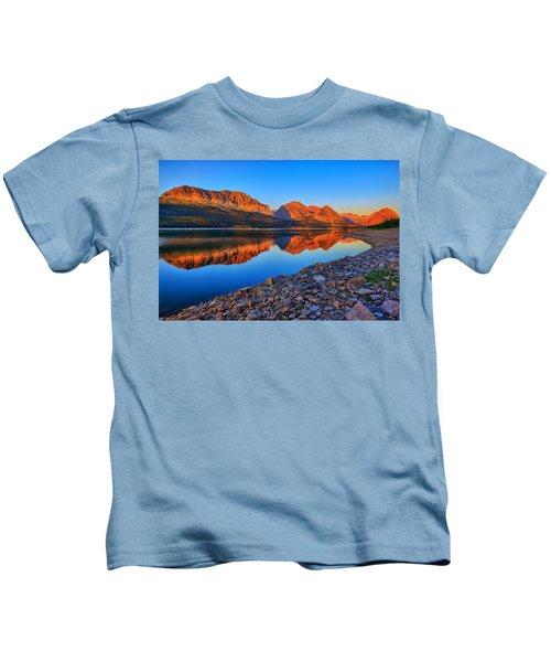 Lake Sherburne Dawn Kids T-Shirt
