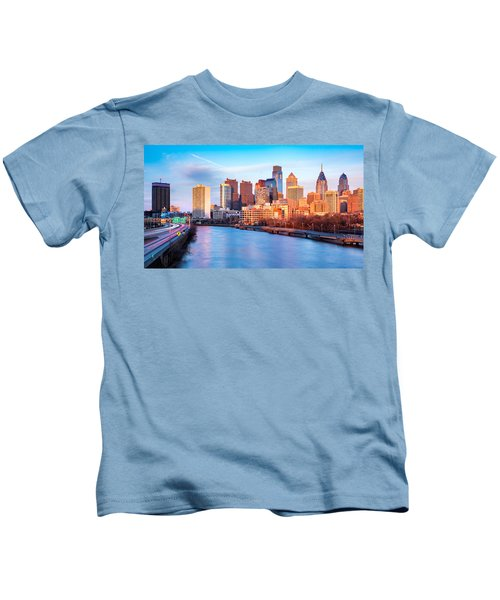 Late Afternoon In Philadelphia Kids T-Shirt