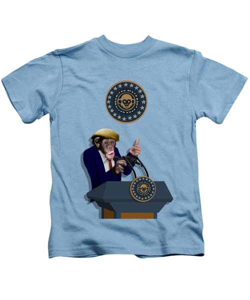 Leader Of The Apes Kids T-Shirt