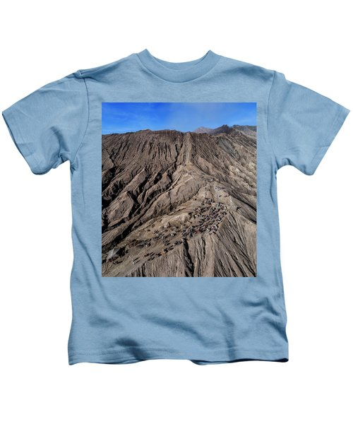 Leading To The Volcano Crater Kids T-Shirt