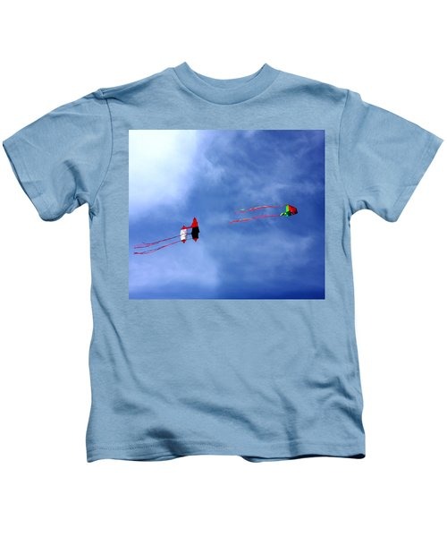 Let's Go Fly 2 Kites Kids T-Shirt