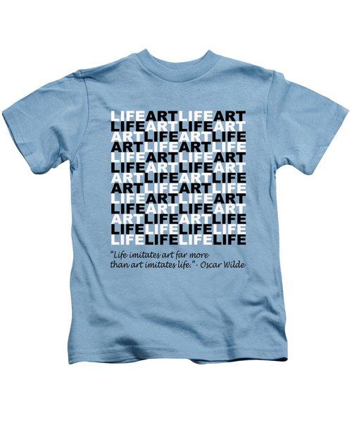 Life Imitates Art Kids T-Shirt