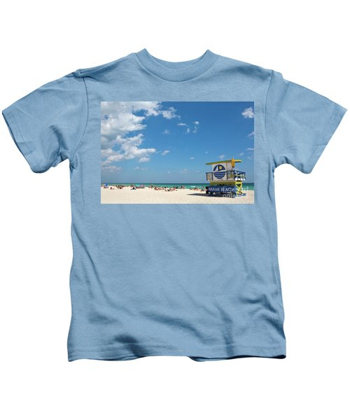 Lifeguard Station Miami Beach Florida Kids T-Shirt