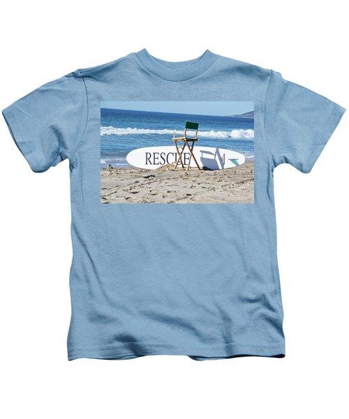 Lifeguard Surfboard Rescue Station  Kids T-Shirt