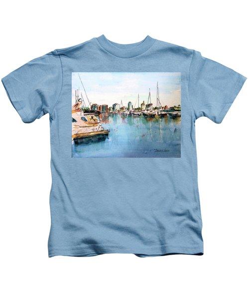 Long Beach Coastal View Kids T-Shirt