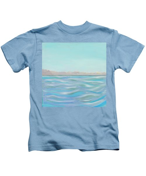 Looking South Tryptic Part 1 Kids T-Shirt