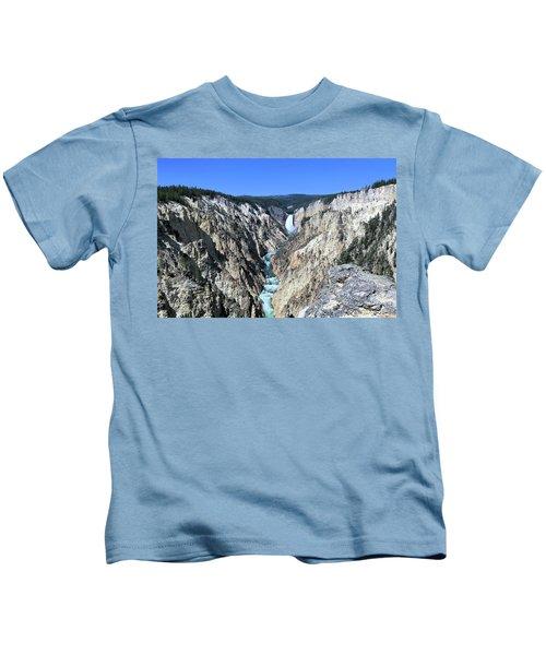 Lower Falls From Artist Point Kids T-Shirt