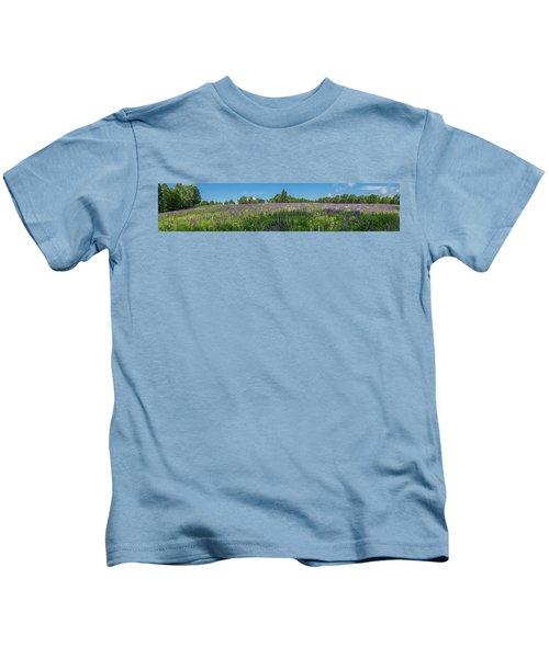 Lupine Field Kids T-Shirt