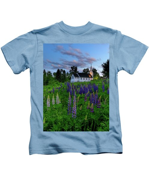 Lupines By The Church Kids T-Shirt