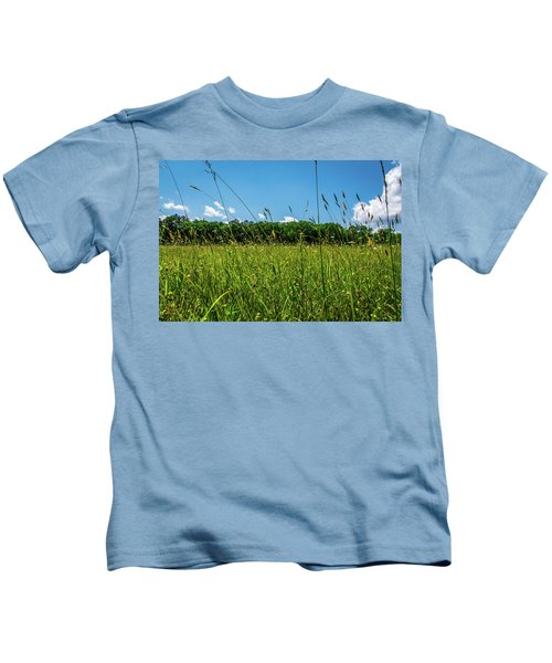 Lying In The Grass Kids T-Shirt