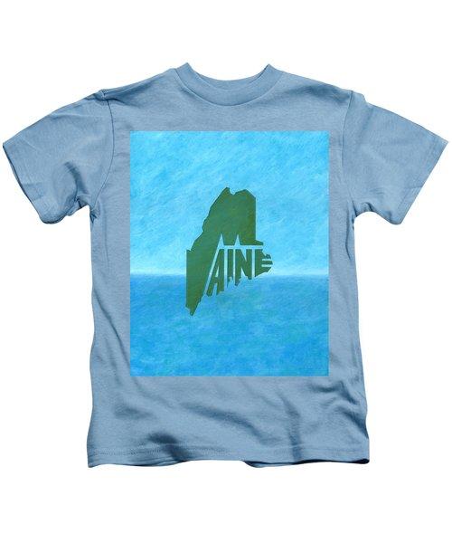 Maine Wordplay Kids T-Shirt