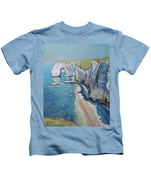 Manneport, The Cliffs At Etretat Kids T-Shirt