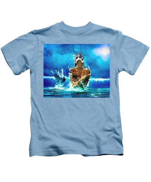 Mermaid Under The Moonlight Kids T-Shirt