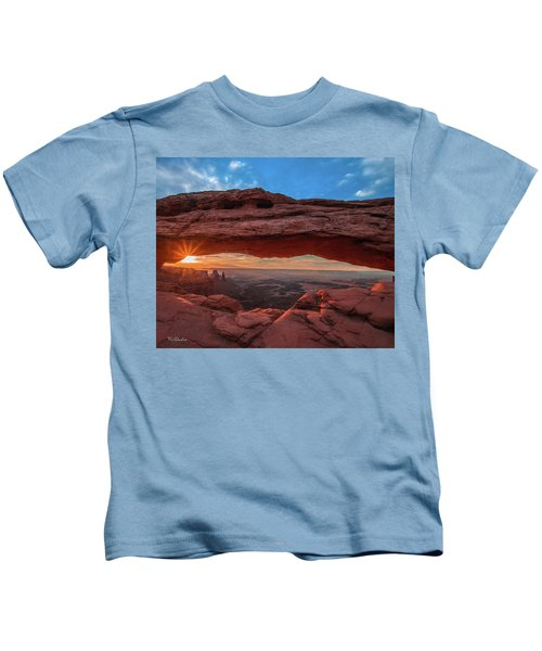 Mesa Arch At Sunrise 3, Canyonlands National Park, Utah Kids T-Shirt