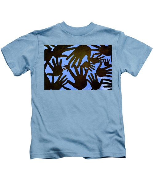 Metal Hands All Over The Place In Orlando Florida Kids T-Shirt