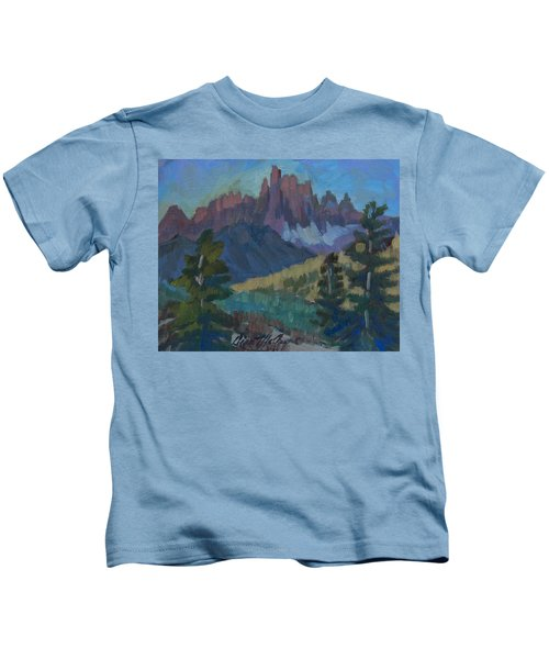 Minarets Vista At Mammoth Mountain Kids T-Shirt
