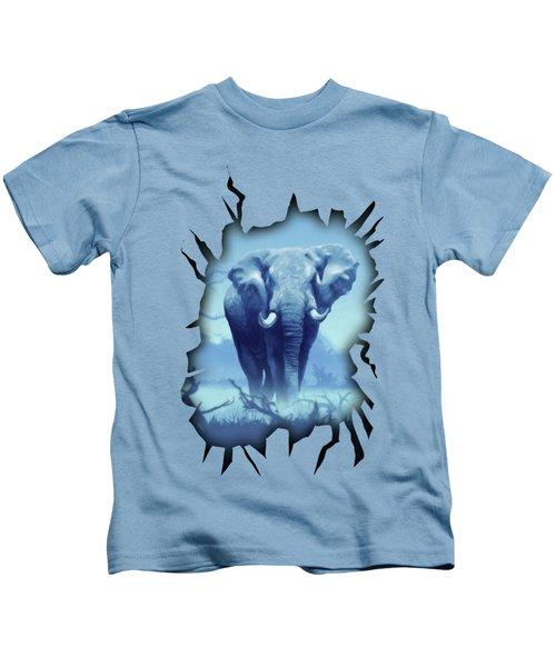 Misty Blue Morning In The Tsavo Kids T-Shirt