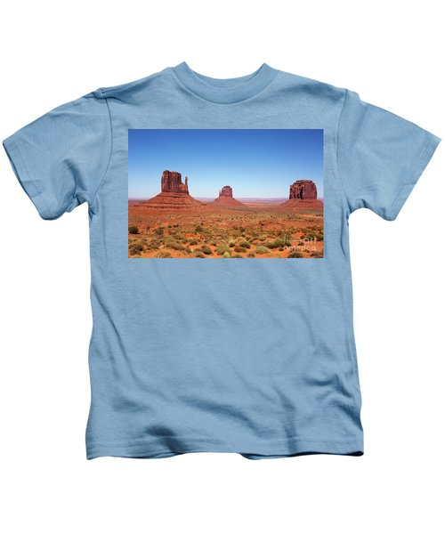 Monument Valley Utah The Mittens Kids T-Shirt