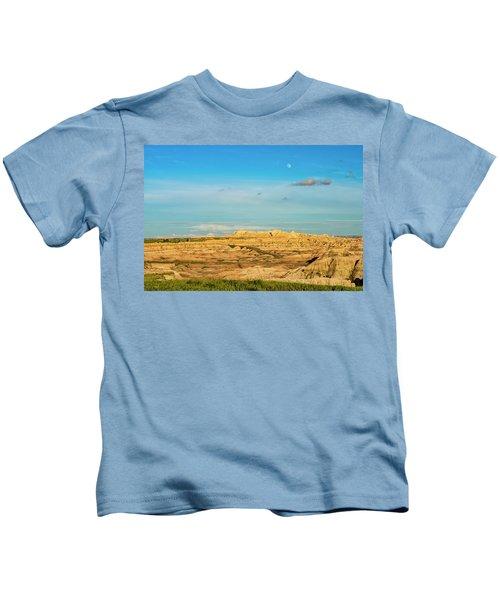 Moon Over The Badlands Kids T-Shirt