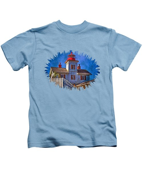 Morning At The Yaquina Bay Lighthouse Kids T-Shirt
