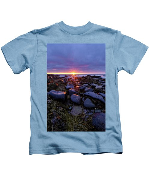 Morning Fire, Sunrise On The New Hampshire Seacoast  Kids T-Shirt