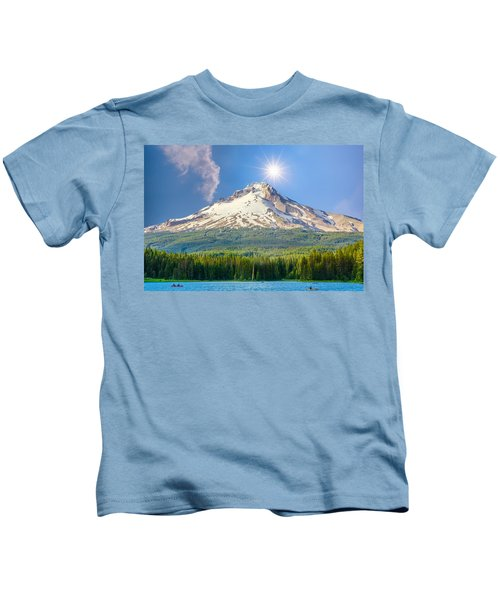 Morning View Of The Mt Hood Kids T-Shirt