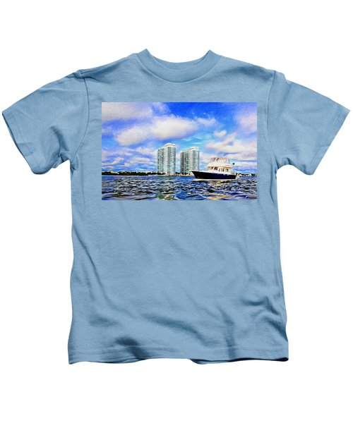 Motoring Past The Marina Grande Kids T-Shirt