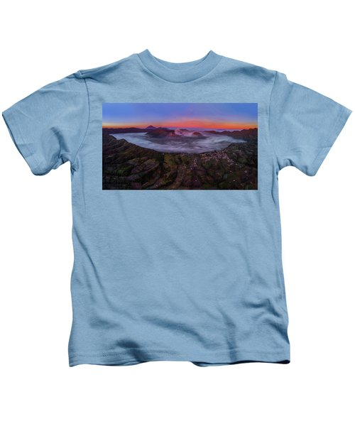 Mount Bromo Misty Sunrise Kids T-Shirt