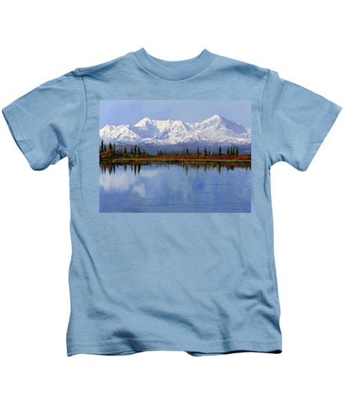 mount Denali in Alaska Kids T-Shirt